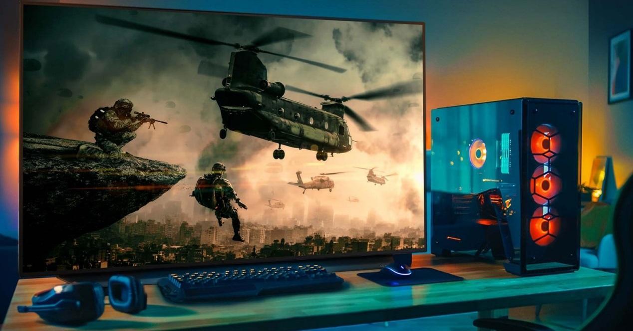 tele y pantallon gamer pantalla tele grande (Copiar)